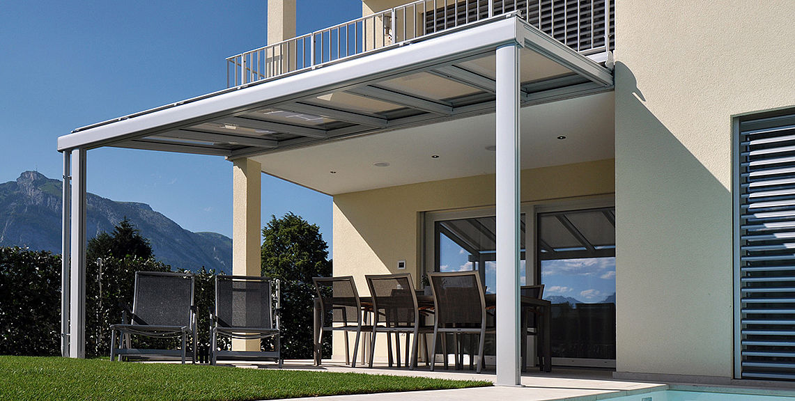 Glass roof system - TERRADO GP5100 | Sun Protection and Weather Protection with STOBAG