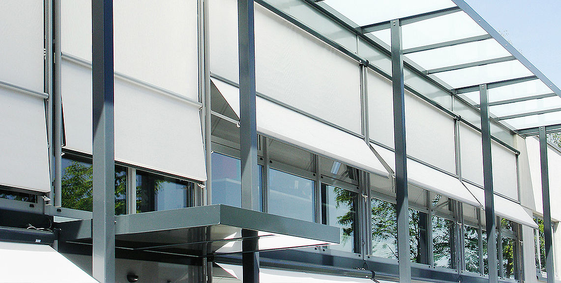 Drop arm awnings & window awnings - ISOMBRA FS6000 | Sun Protection and Weather Protection with STOBAG