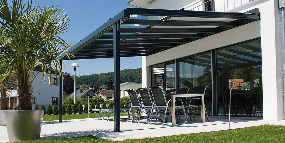 Glass roof system | Sun protection with STOBAG