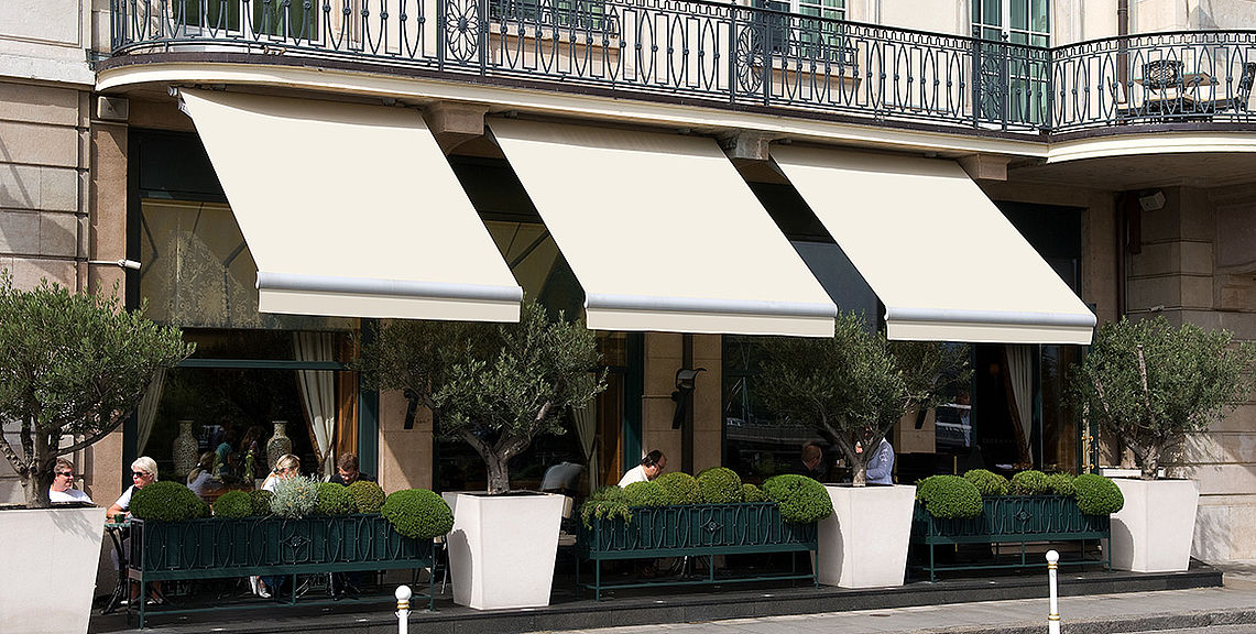 Open awnings - SELECT S8133 | Sun Protection and Weather Protection with STOBAG