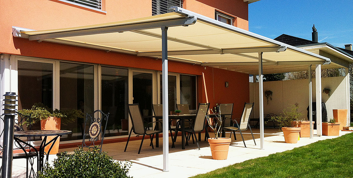 Pergola & terrace awnings - PERGOLINO P3500 - Gas spring mechanism | Sun Protection and Weather Protection with STOBAG