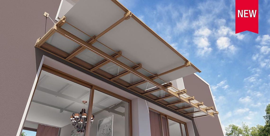 Glass canopy system - ARDON GP2600 | Sun Protection and Weather Protection with STOBAG