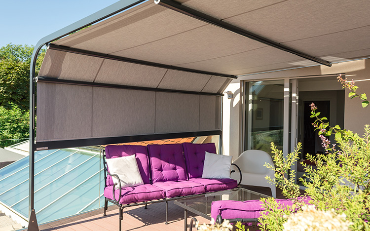 stores pour pergolas terrasses stobag ag sonnenschutz wetterschutz. Black Bedroom Furniture Sets. Home Design Ideas