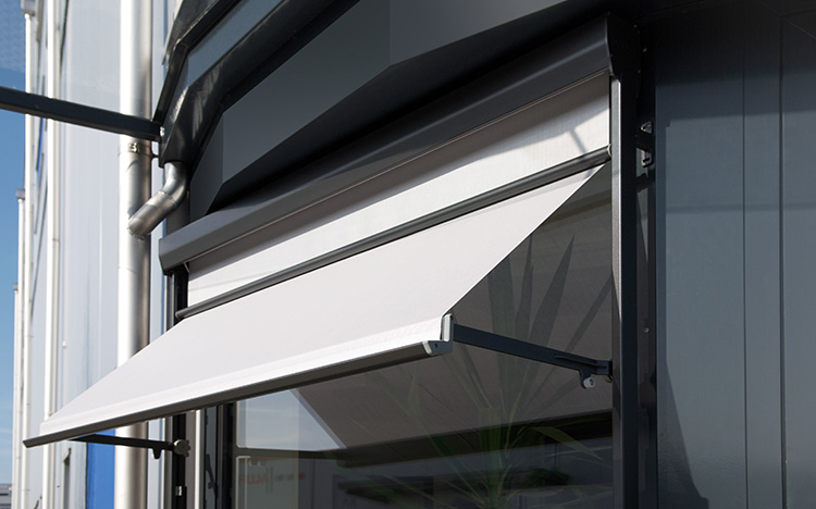 WINDOWS & FACADES Drop-arm and combination awnings by STOBAG