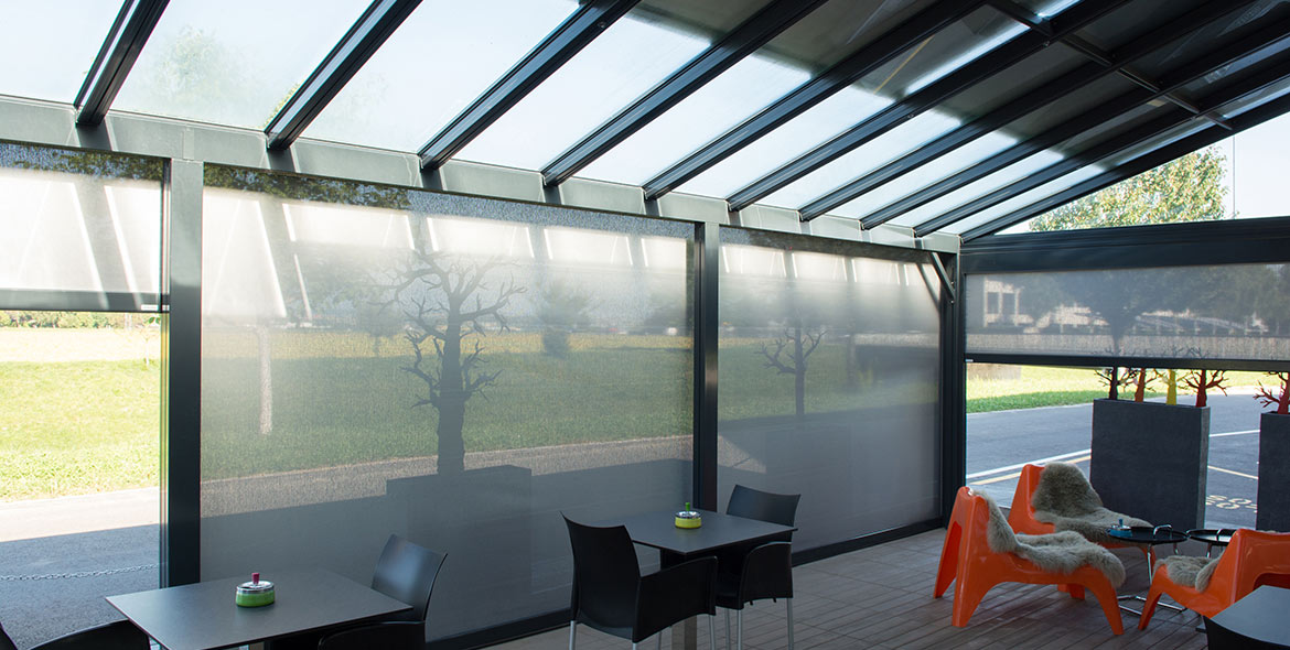 Gastro & industry - Glass roof system - TERRADO GP5100 | Sun Protection and Weather Protection with STOBAG